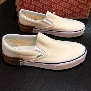 Vans Classic Slip-on Gum Block Classic White